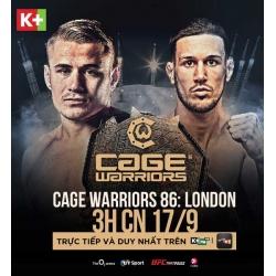 K+ độc quyền phát sóng giải đấu MMA Cage Warriors