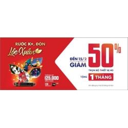 Rước K+, Đón lộc xuân: Giảm 50% trọn bộ thiết bị HD từ 01/02 đến hết 15/02/2018