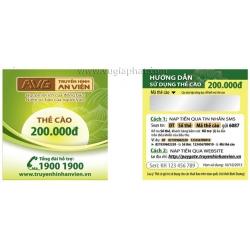 Thẻ Cào Gia Hạn AVG Gói DTT 200K