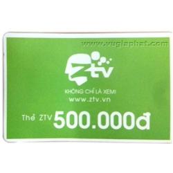 Thẻ Cào Nạp Tiền Tài Khoản ZTV