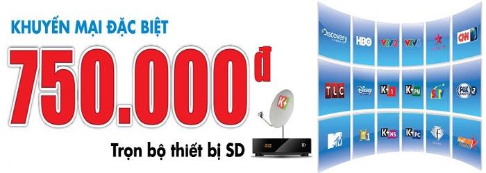 Bộ K+ SD chỉ còn 750.000 đ từ 10/10 đến 31/10/2014