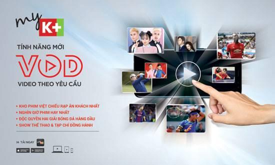 K+ cung cấp tính năng xem theo yêu cầu VOD cho thuê bao