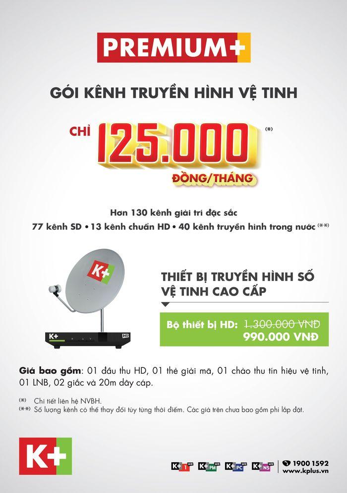 K+ khuyến mại trọn bộ thiết bị HD chỉ còn 990.000 từ 01/03 đến hết 31/03/2018