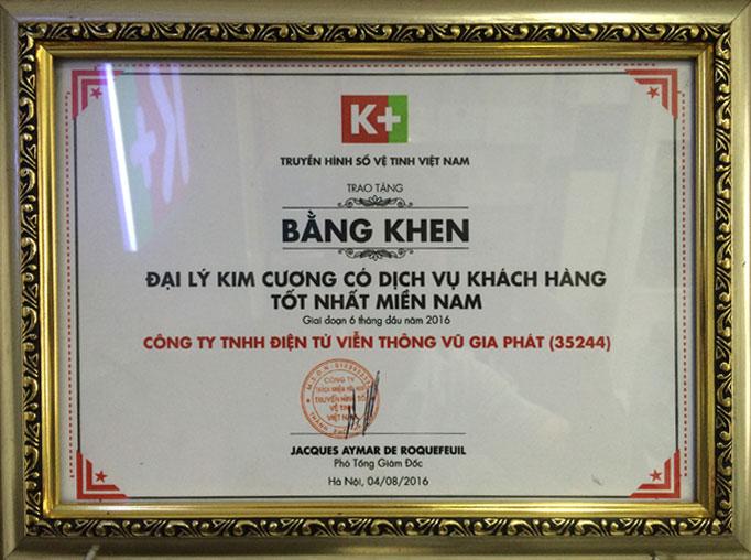 Bằng khen K+ 2016